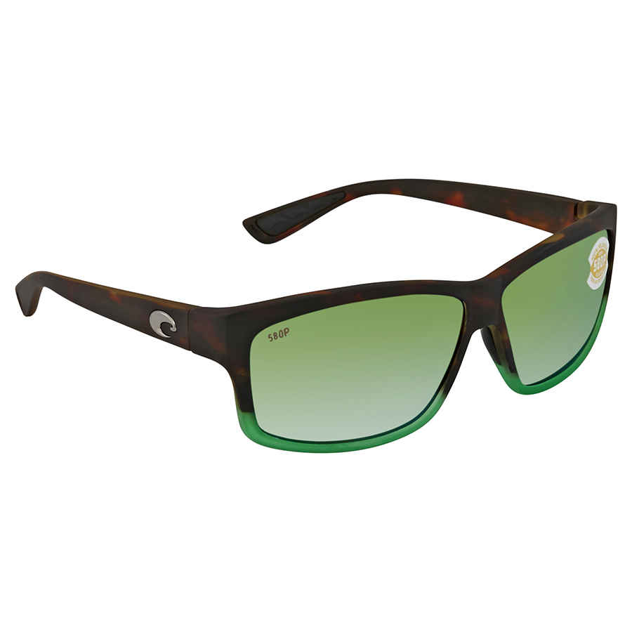 8a2ef4f9f Costa Del Mar Cut Green Mirror Polarized Plastic Rectangular Sunglasses UT  77 OGMP