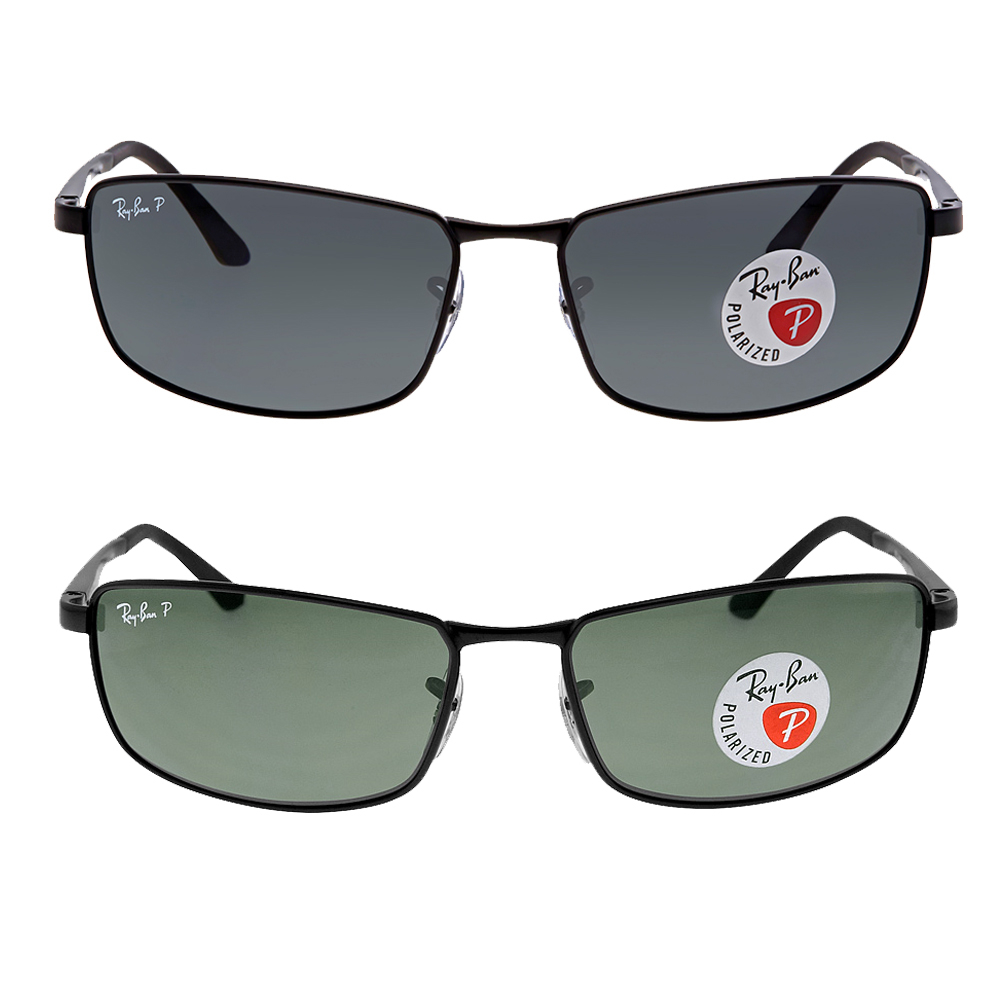 c44328c3bbd44 Ray Ban Green Classic G-15 Men s Polarized Sunglasses RB3498 002 9A 61-17