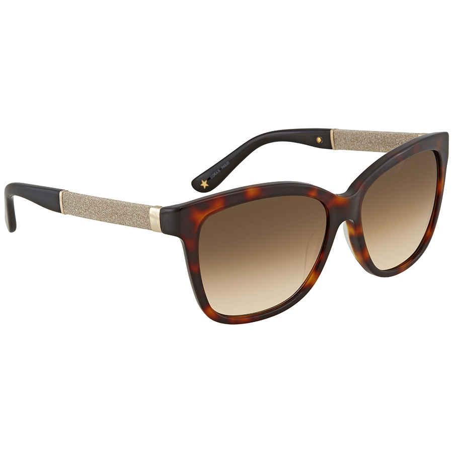 9c171006067e Jimmy Choo Brown Gradient Square Sunglasses CORA S 56JD 56 CORA S ...