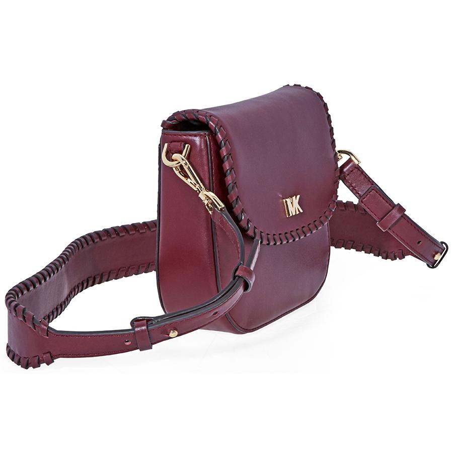 252b930fcada Michael Kors Whipstitched Leather Saddle Bag - Choose color