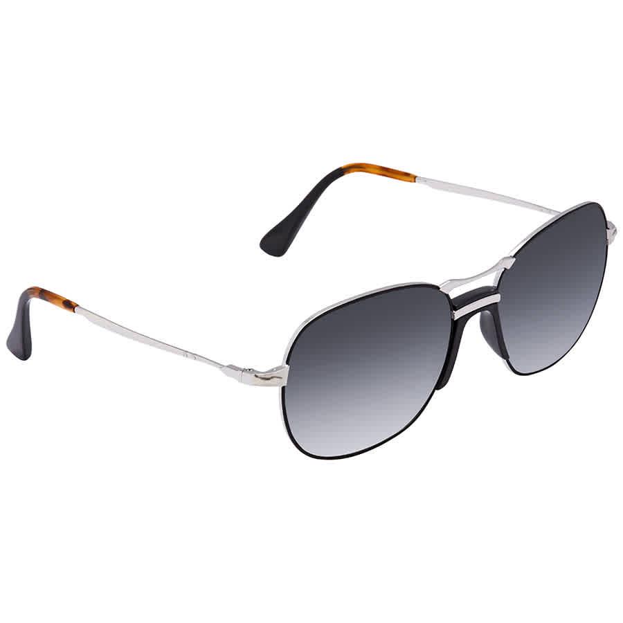 ea2986e8e64fa Persol Dark Gray Gradient Aviator Unisex Sunglasses PO2449S 107471 ...