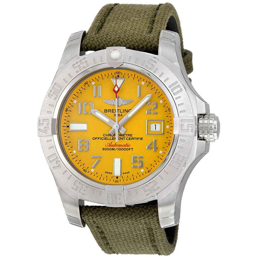 2de2514ff68 Breitling Avenger II Seawolf Yellow Dial Men s Watch A1733110-I519GCVT