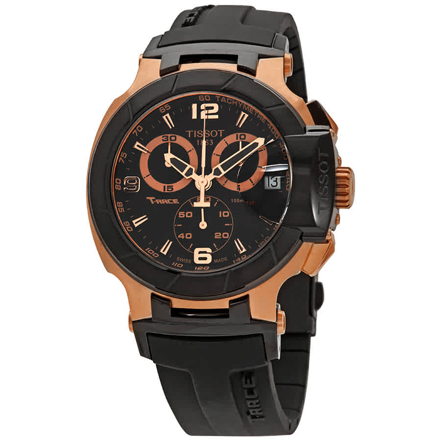 f8113cf6e2a Tissot T-Race Chronograph Black Dial Men s Watch T048.417.27.057.06 ...