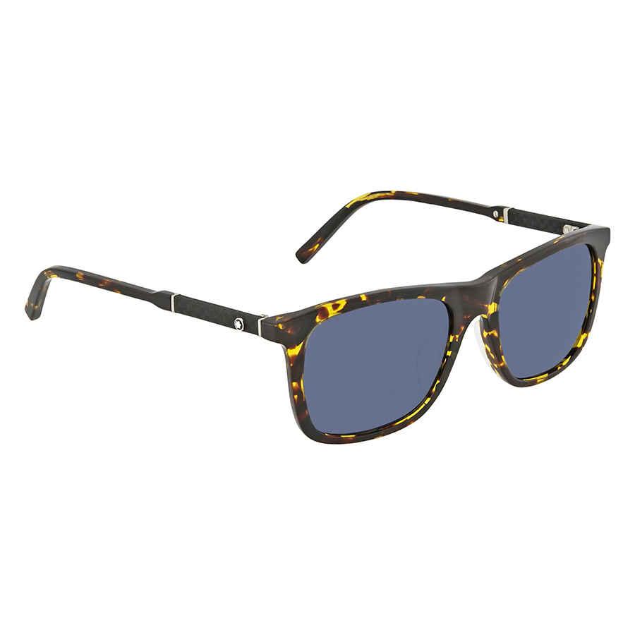 39de109d58 Montblanc Blue Square Sunglasses MB606S-F 55V 55 MB606S-F 55V 55 ...