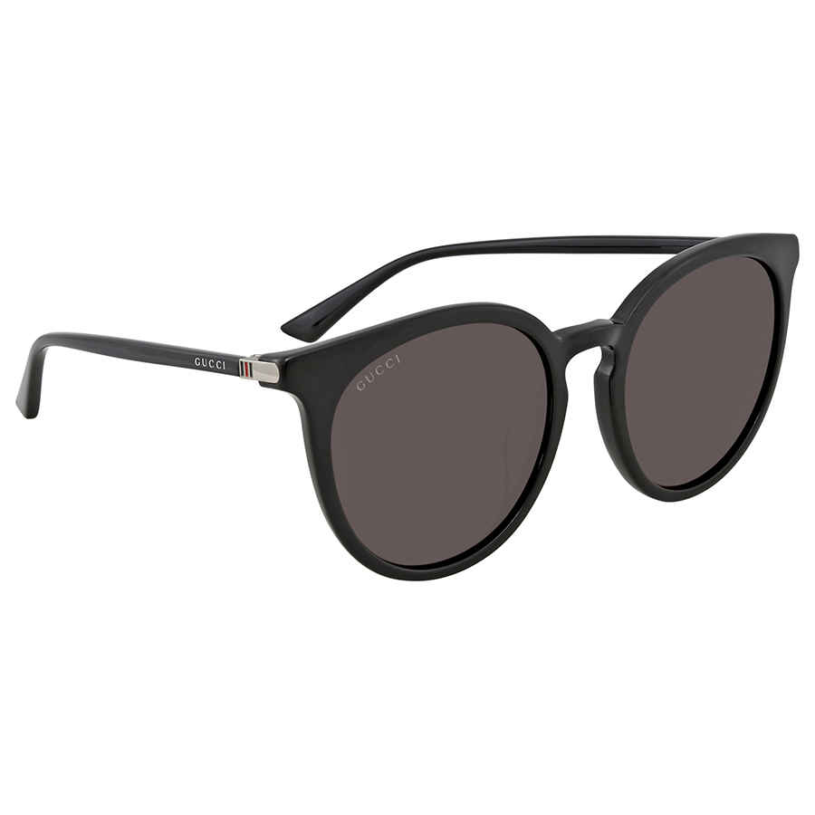 45d4ae8791a Gucci Grey Round Ladies Sunglasses GG0064SK 001 55 GG0064SK 001 55 ...