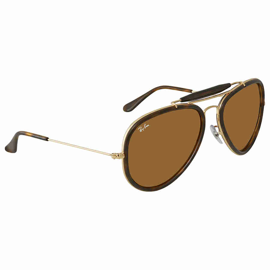 4387b5e285 Ray Ban Road Spirit Brown Aviator Sunglasses RB3428 W3378 58 ...