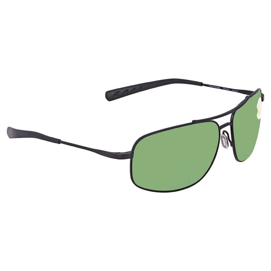 fe5a99ded12d8 Costa Del Mar Shipmaster Green Mirror Polarized Plastic Rectangular  Sunglasses SMR 101 OGMP