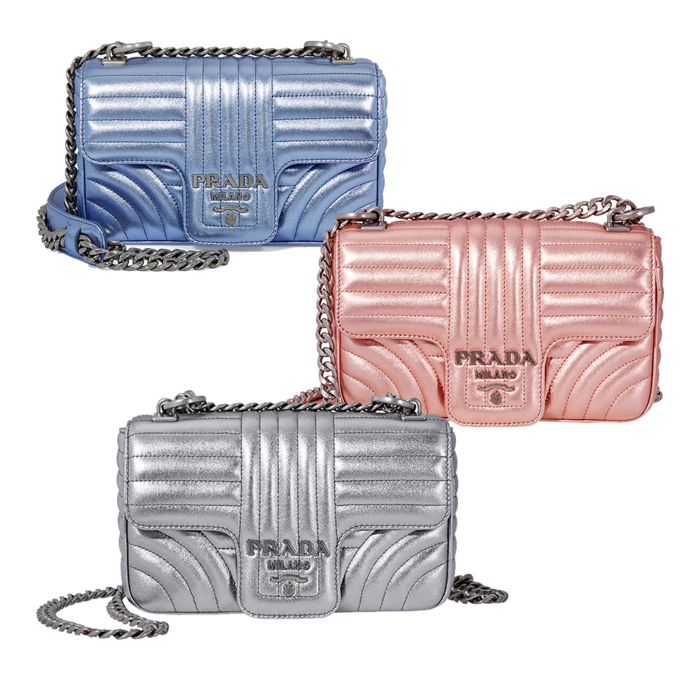 c0123b4e4e13 Prada Diagramme Leather Shoulder Bag - Choose color | eBay