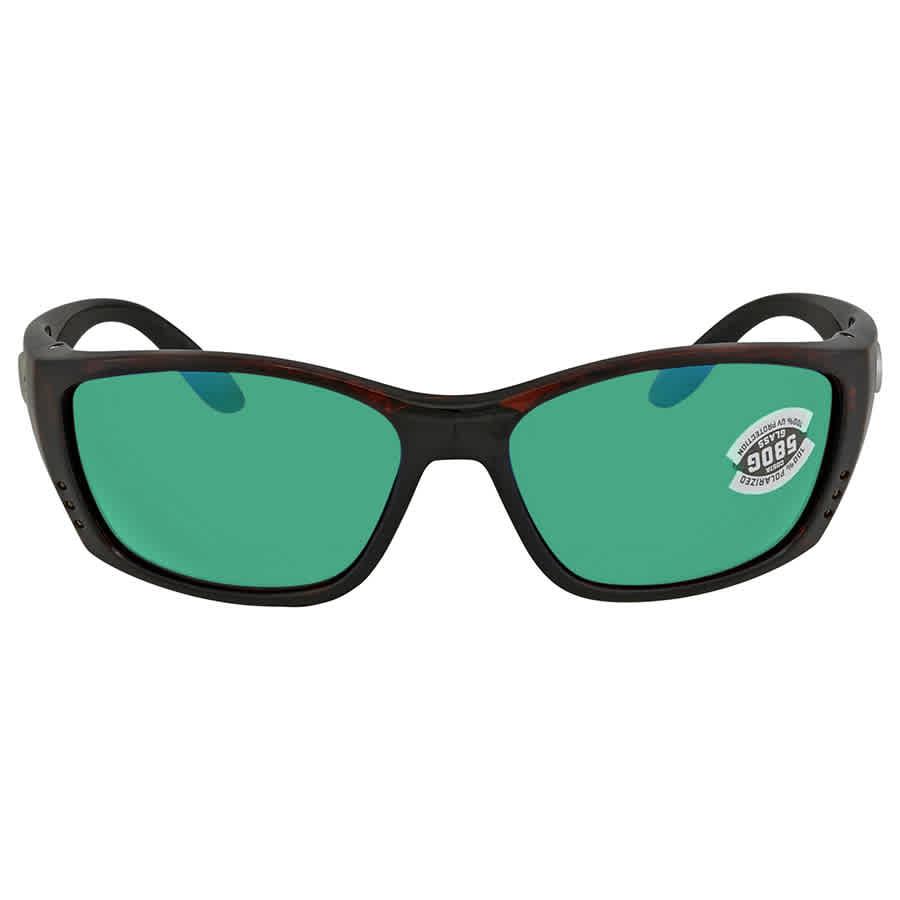 1898cf6555 Costa Del Mar Fisch Green Mirror Glass Polarized X-Large Fit Sunglasses FS  10 OGMGLP