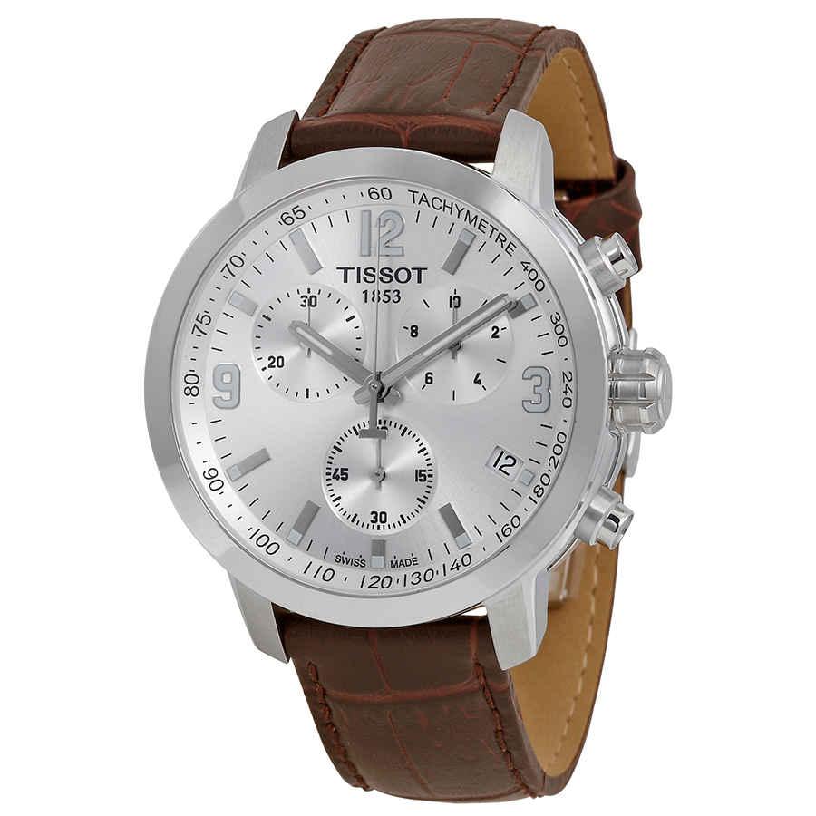 fc520a66f Tissot PRC 200 Chronograph Silver Dial Men's Watch T0554171603700 ...
