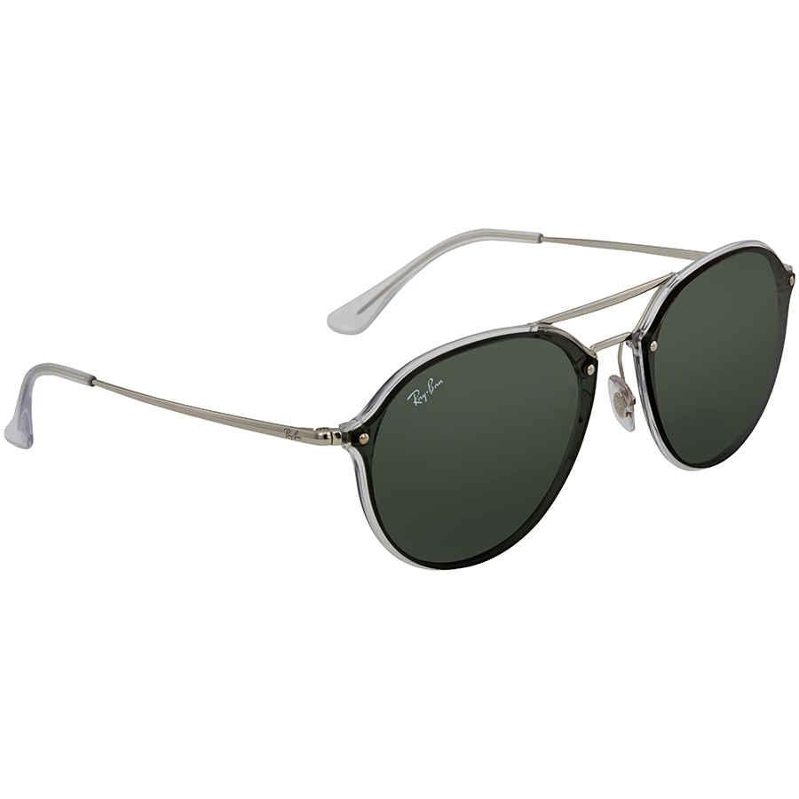 Ray Ban Blaze Double Bridge Green Classic Round Sunglasses RB4292N 632571 62 e1e33aacc5
