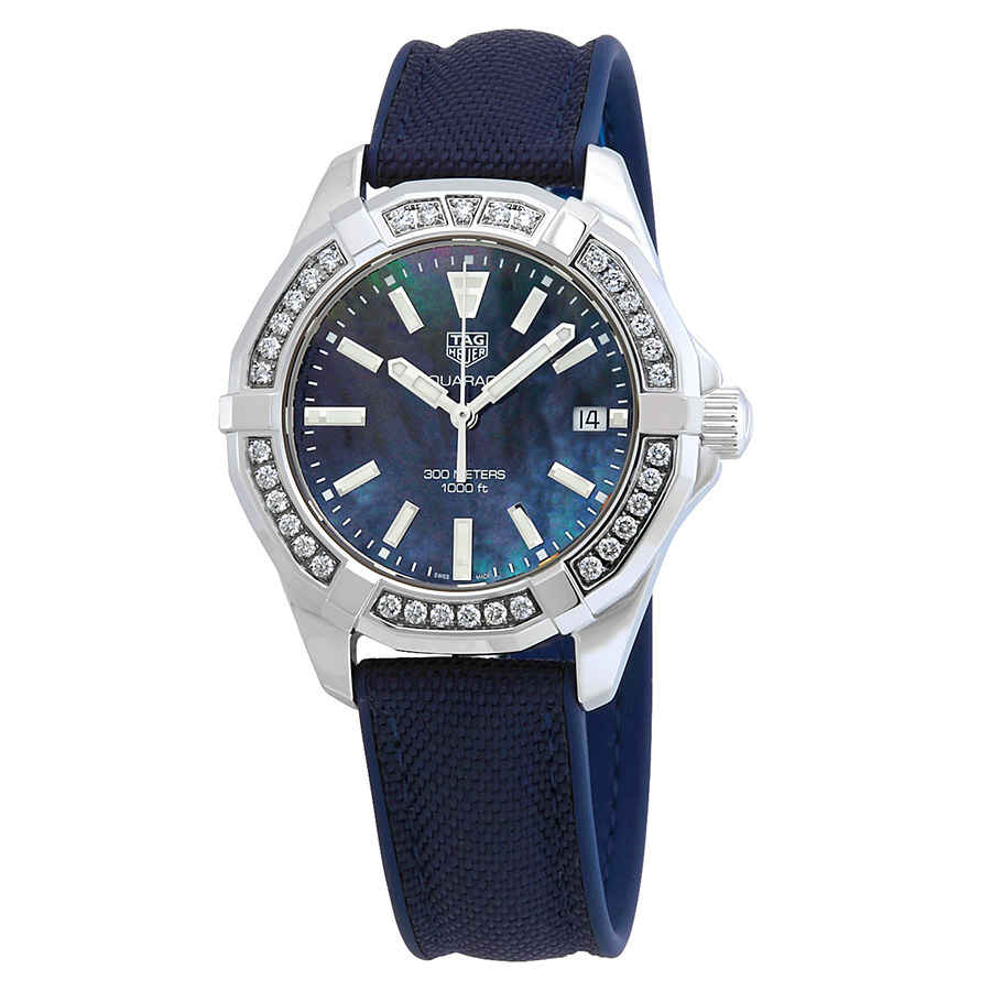 5bae2e26bdaa Tag Heuer Aquaracer Diamond Blue Mother of Pearl Dial Ladies Watch ...