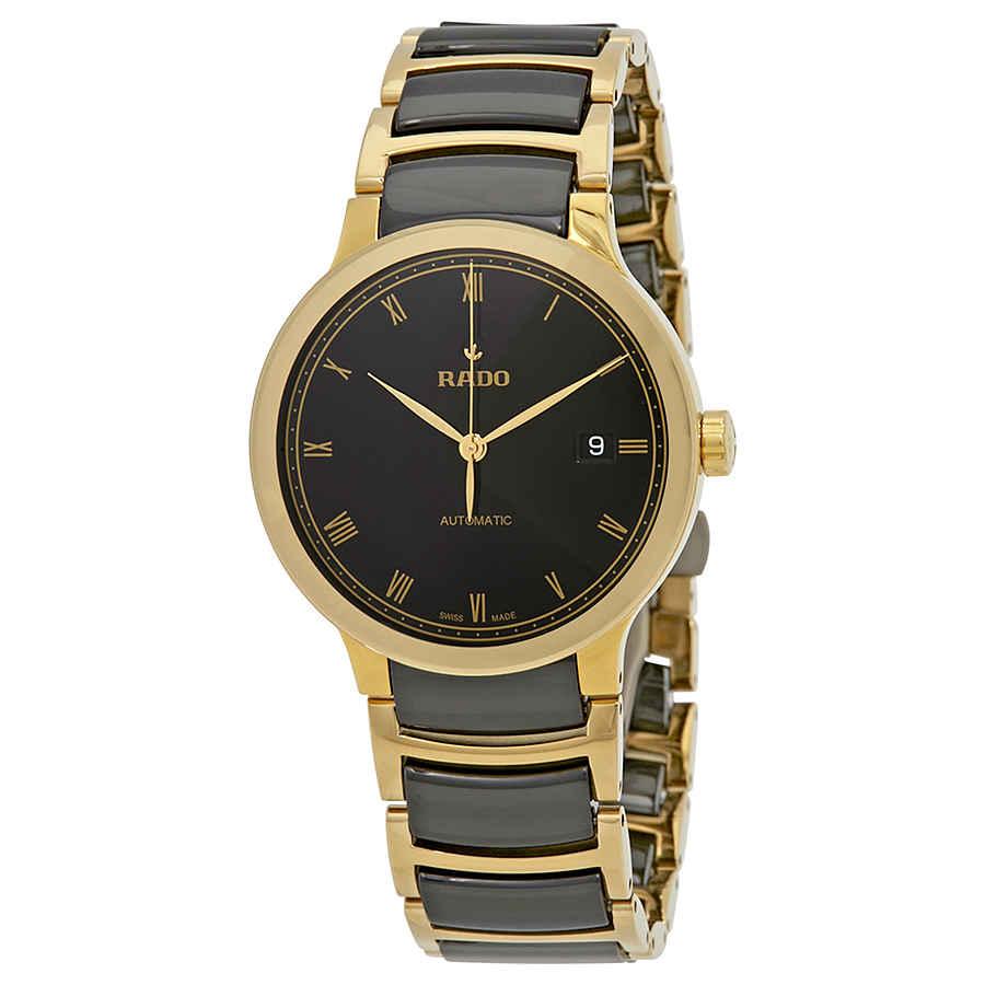 658ab18c45e Rado Centrix Automatic Black Dial Gold PVD Black Ceramic Ladies Watch  R30079152