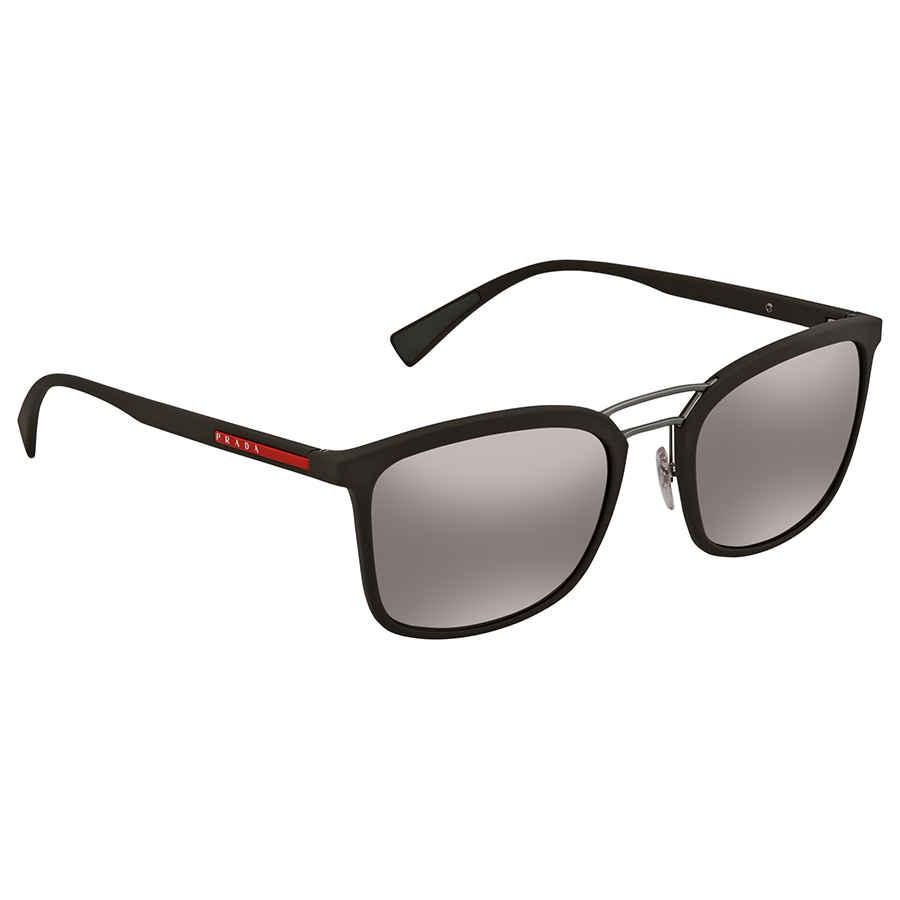 28f94951d99 Prada Linea Rossa Polarized DK Brown Mirror Silver Square Men s Sunglasses  0PS 03SSUB05K056