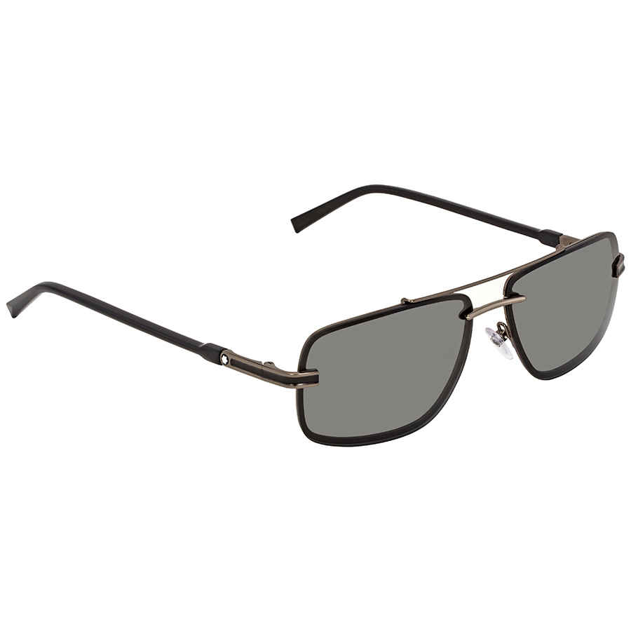 11fb3fb03 Montblanc Smoke Rectangular Sunglasses MB658S 08A 59 MB658S 08A 59 ...