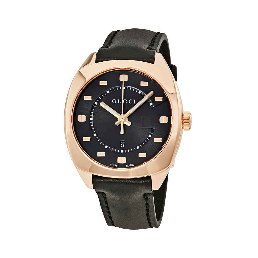 a5d53ad9 Details about Gucci GG2570 Black Dial Rose Gold-tone Ladies Watch YA142407