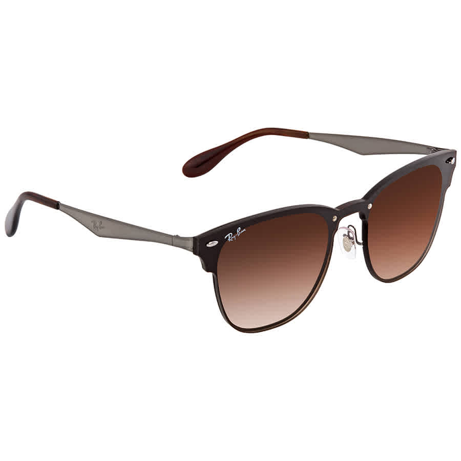 f7efd1c32b Ray Ban Blaze Clubmaster Brown Gradient Wayfarer Men s Sunglasses RB3576N  041 13 41