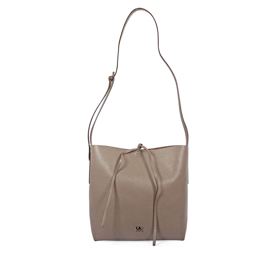 7182898991 Michael Kors Junie Large Pebbled Leather Messenger Bag- Mushroom ...