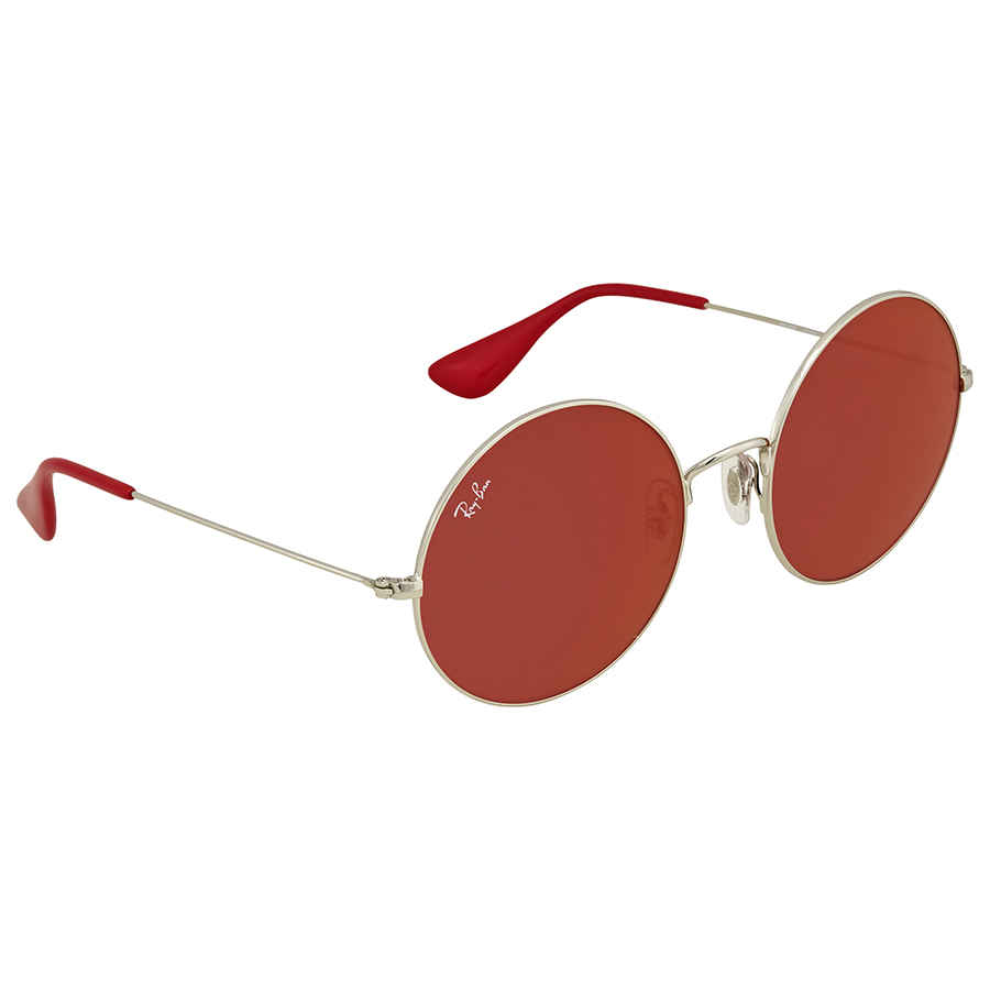 f103a9424ea Ray Ban Dark Red Classic Round Ladies Sunglasses RB3592 003 D0 55 ...