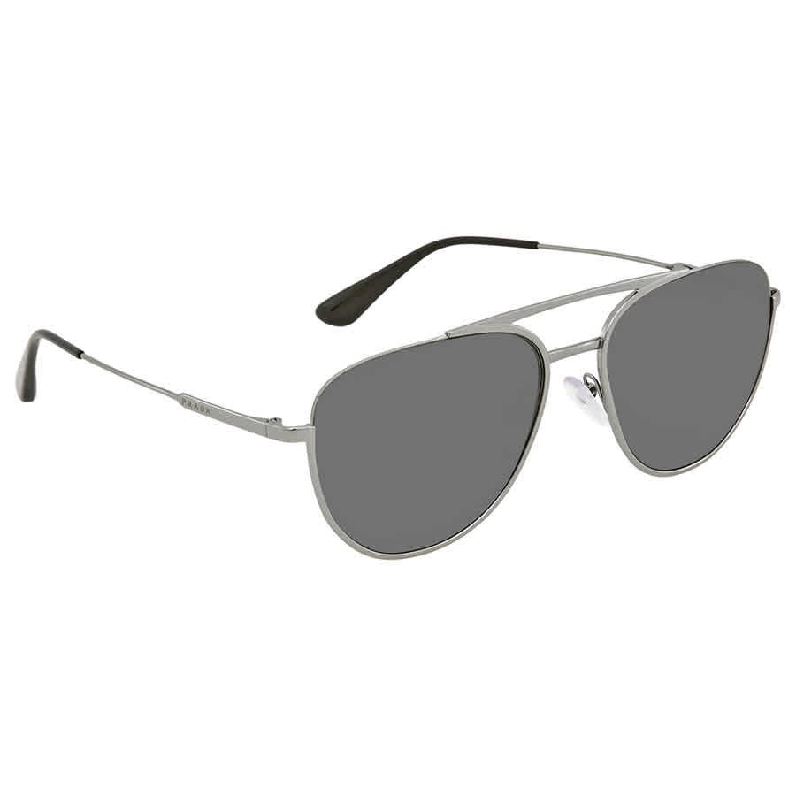 4f0688c4515a Prada Grey Aviator Sunglasses PR 50US 5AV5S0 56 PR 50US 5AV5S0 56 ...