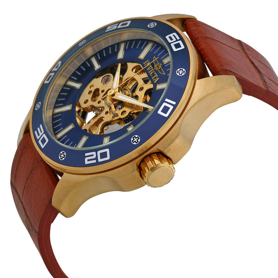 Invicta-Specialty-Mechanical-Skeleton-Men-039-s-Leather-Watch thumbnail 10