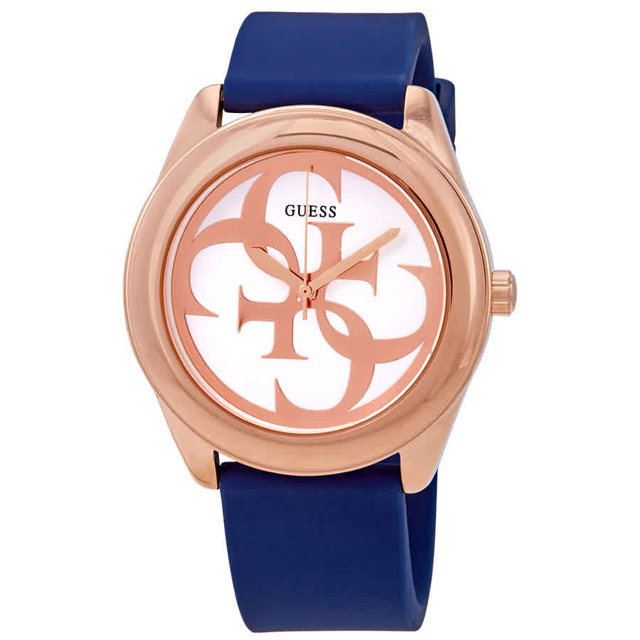 530d78970 Guess G-Twist Silver Dial Blue Silicone Ladies Watch W0911L6 ...