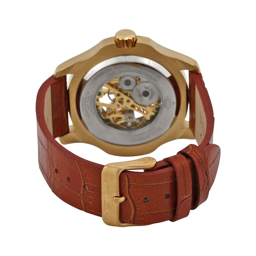 Invicta-Specialty-Mechanical-Skeleton-Men-039-s-Leather-Watch thumbnail 11