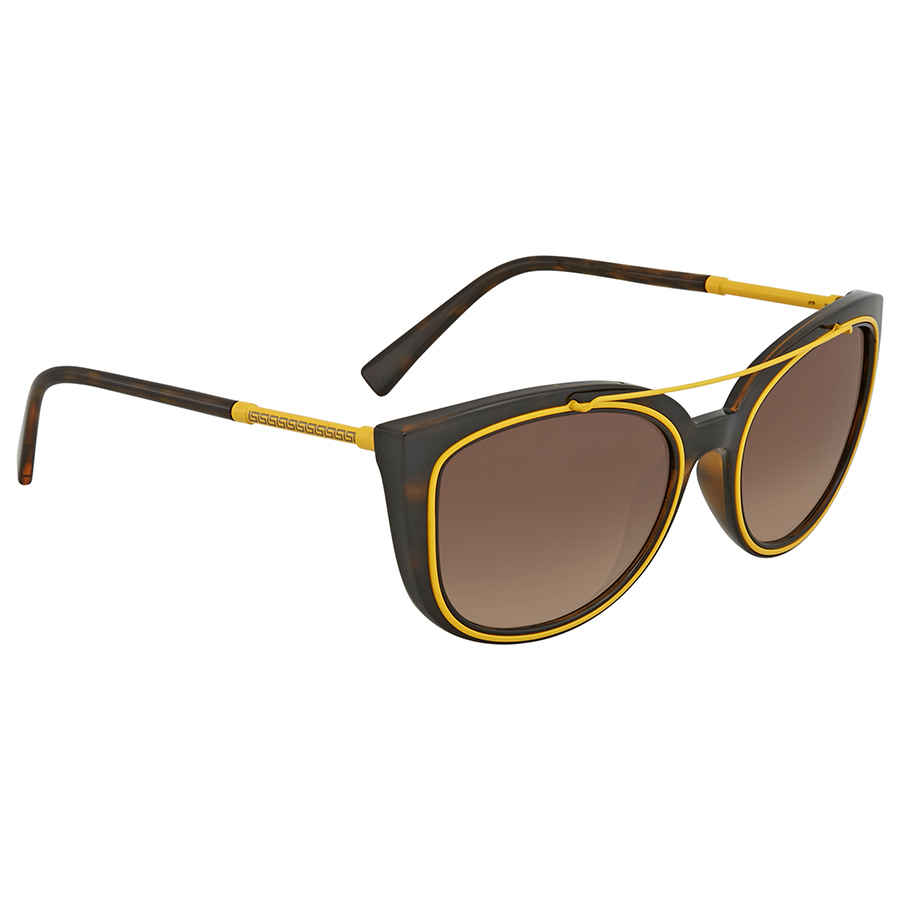 5ac38ef5dc7d2 Versace Brown Gradient Cat Eye Sunglasses VE4336 108 13 56 VE4336 ...