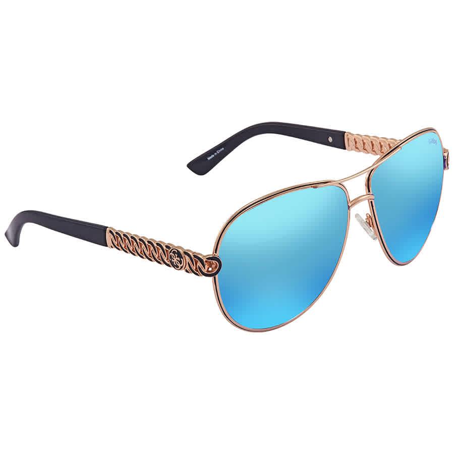 0c6f736e8f1 Guess Blue Mirror Aviator Sunglasses GU7404 28X 59 GU7404 28X 59 ...