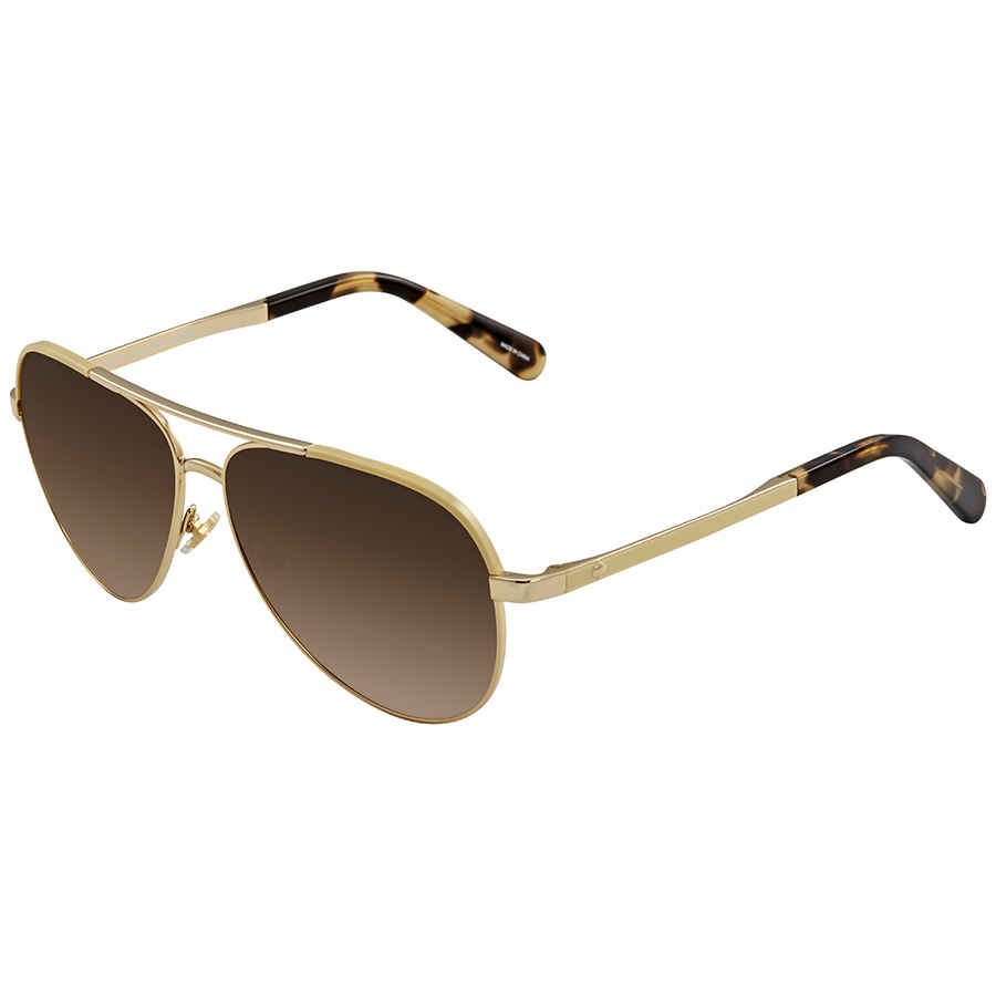 5d49a623bf Kate Spade Amarissa Brown Gradient Aviator Ladies Sunglasses AMARISSAS 00NR  59