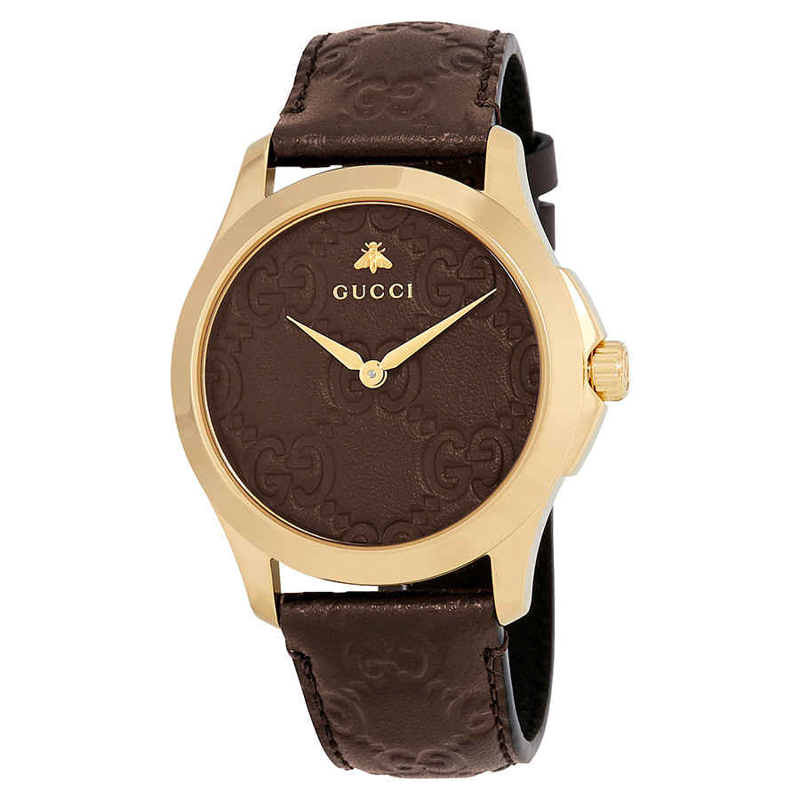 037fd49f8b6 Gucci G-Timeless Brown GG Dial Men s Watch YA1264035 731903409644