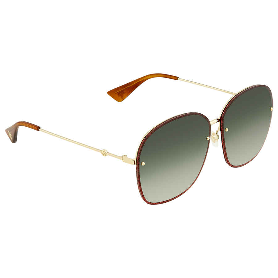 e4f19515e9e Gucci Green Gradient Oval Sunglasses GG0228S 001 63 GG0228S 001 63 ...