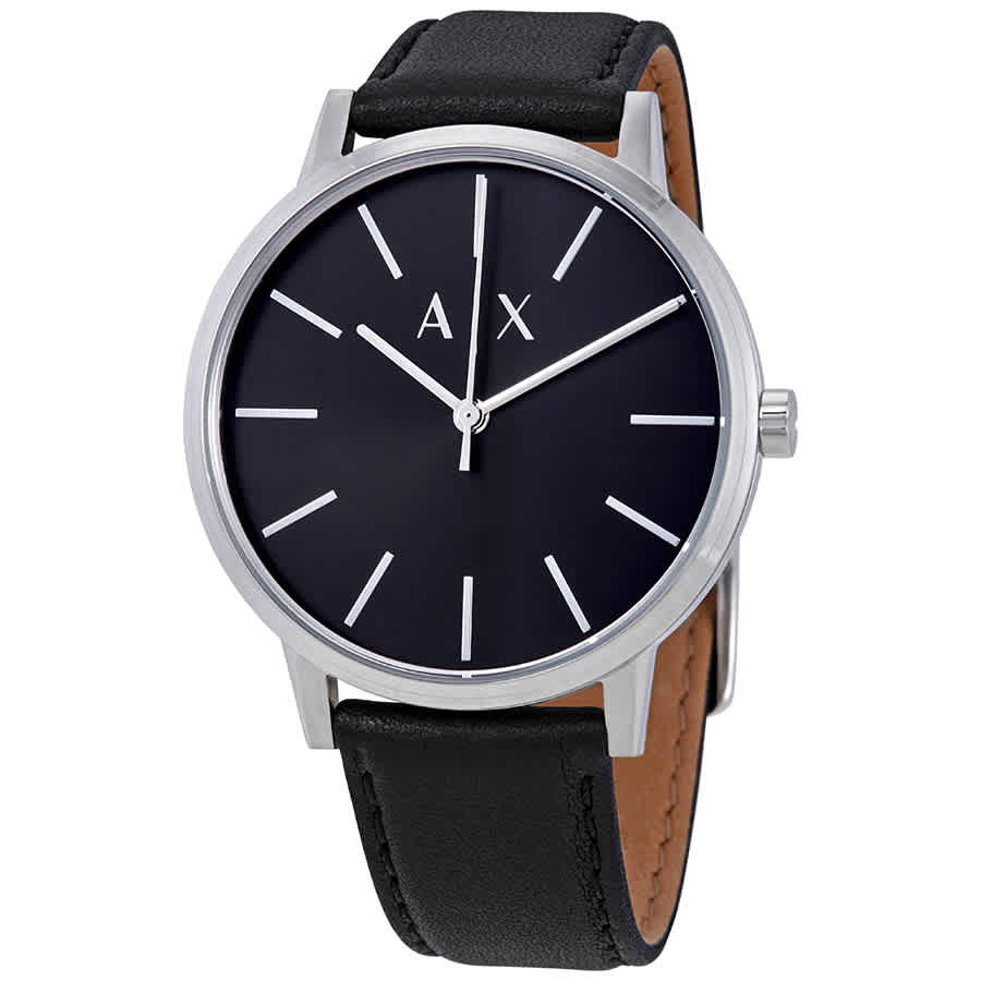 480c588cd3d Armani Exchange Black Dial Men s Leather Watch AX2703 723763271332 ...