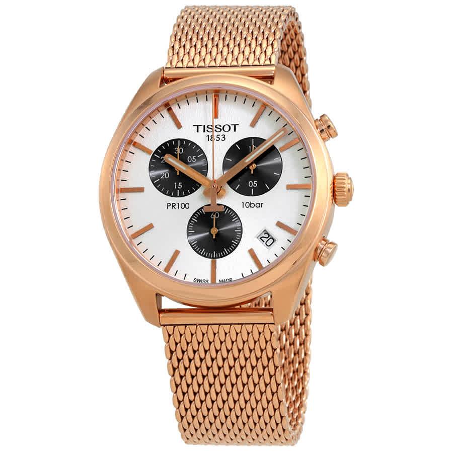 6aabd8ca1ff Tissot PR 100 Chronograph Silver Dial Men s Watch T101.417.33.031.01 ...