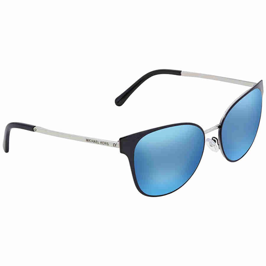 cd5972aca3ab Michael Kors Blue Square Ladies Sunglasses MK1022-118525-54 ...