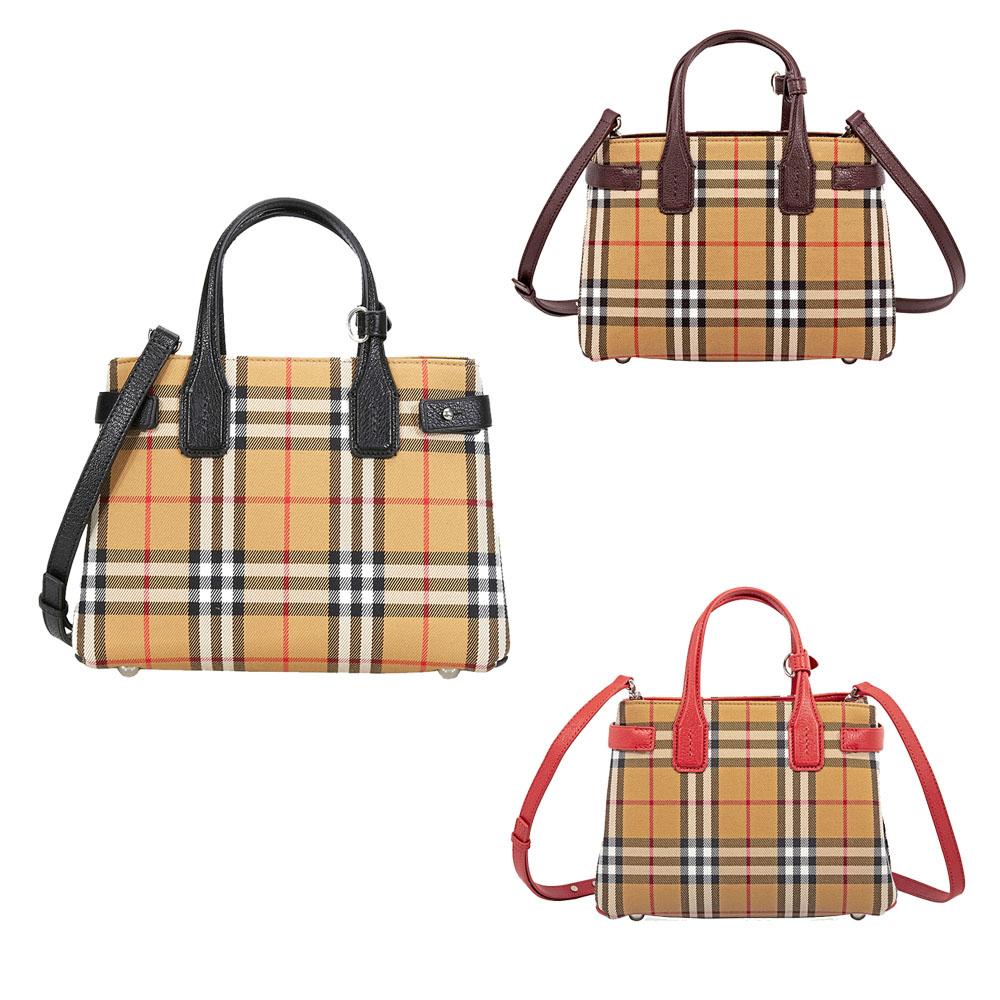 ff62ffbd9e2c Burberry Small Banner Leather Tote - Choose color