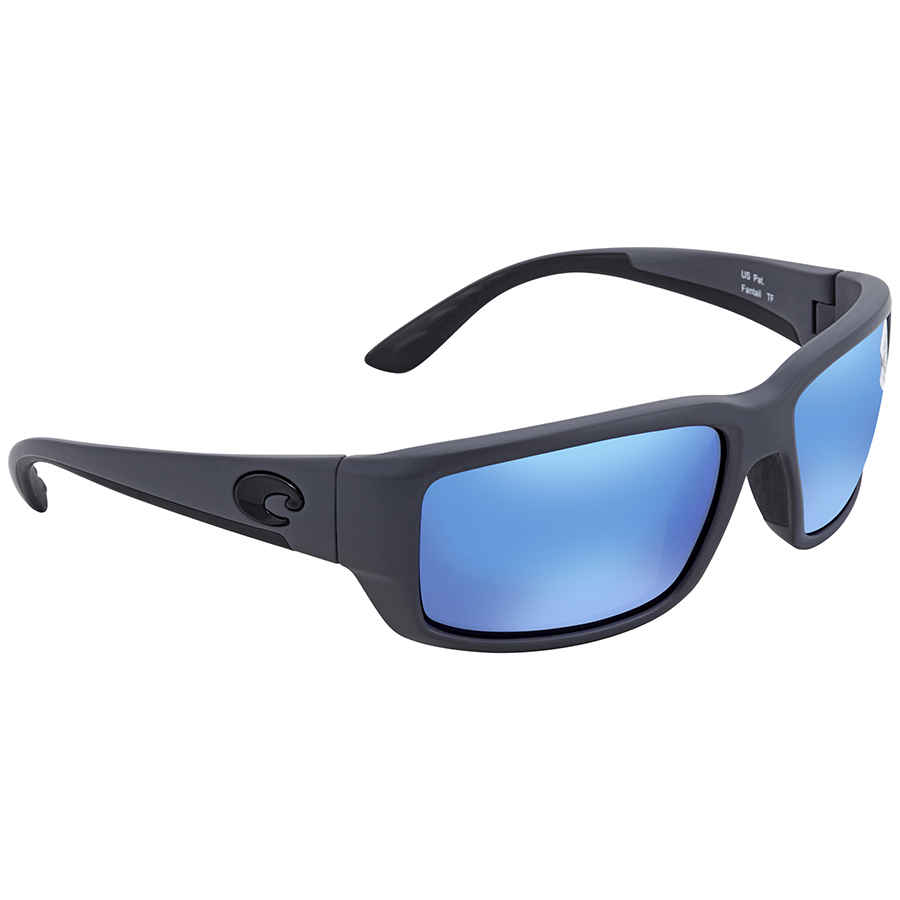 8e715c4cdce Details about Costa Del Mar Fantail Blue Mirror Glass Wrap Sunglasses TF 98  OBMGLP