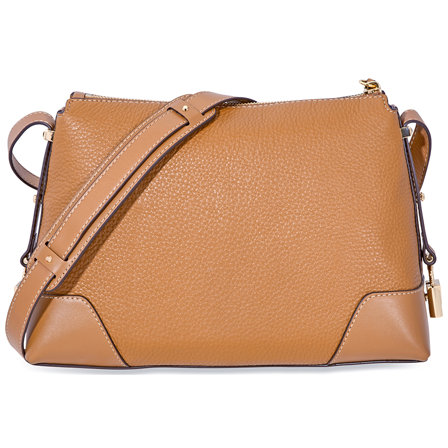 Michael-Kors-Crosby-Medium-Pebbled-Leather-Messenger-Bag-Choose-color miniatura 4