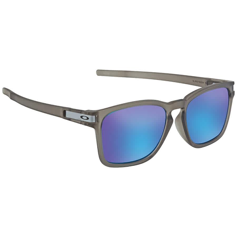 8692167406 Oakley Latch Squared Prizm Sapphire Rectangular Asia Fit Sunglasses OO9358  935812 55