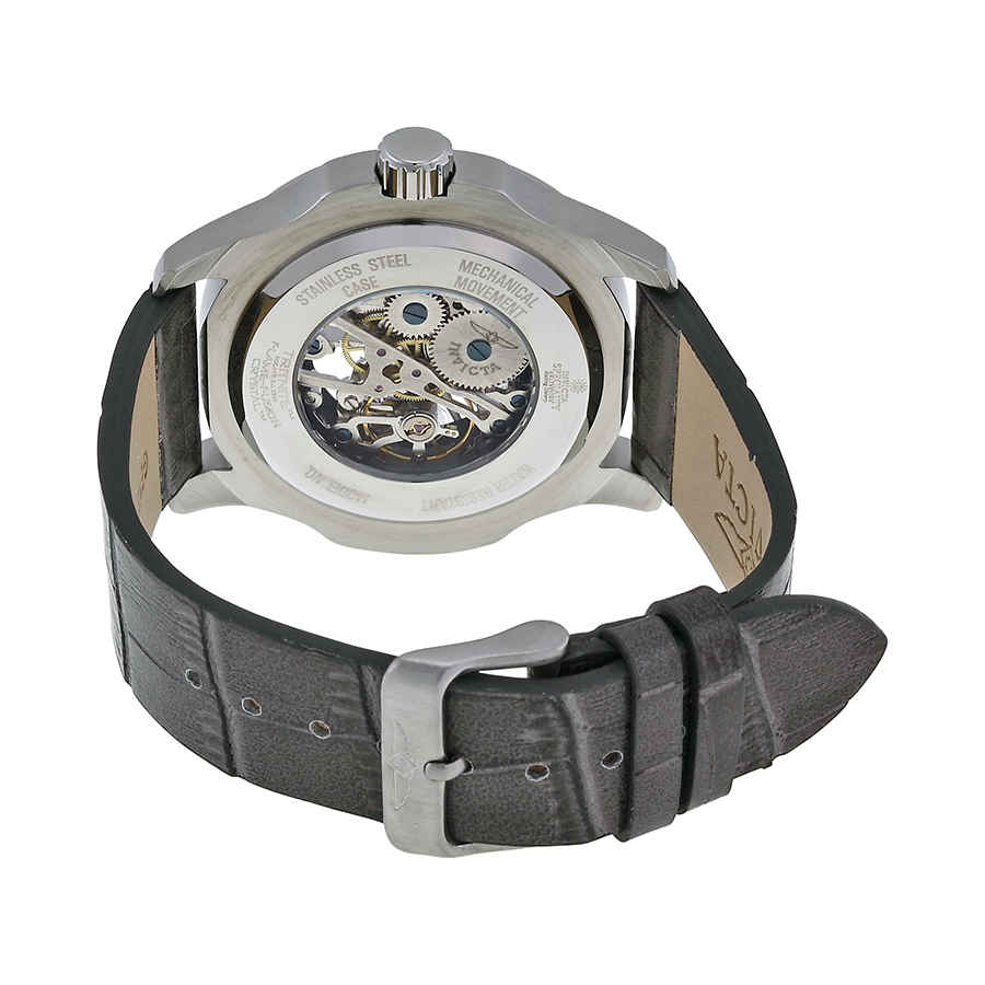Invicta-Specialty-Mechanical-Skeleton-Men-039-s-Leather-Watch thumbnail 15