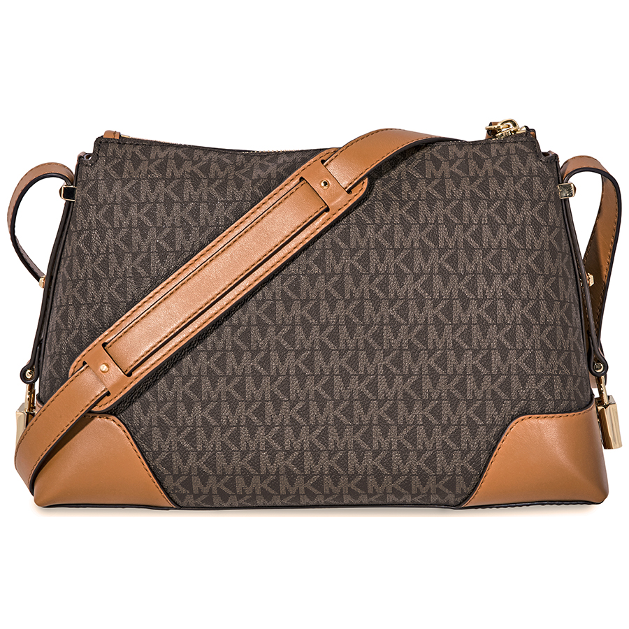 Michael-Kors-Crosby-Medium-Pebbled-Leather-Messenger-Bag-Choose-color miniatura 16