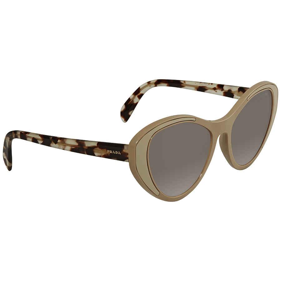 b7de38cfb6f Prada Brown Cat Eye Sunglasses PR 14US 02R5S2 55 PR 14US 02R5S2 55 ...