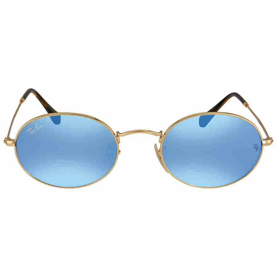 89723dc9065300 Ray-Ban Oval Light Blue Gradient Flash Sunglasses 8053672611601   eBay