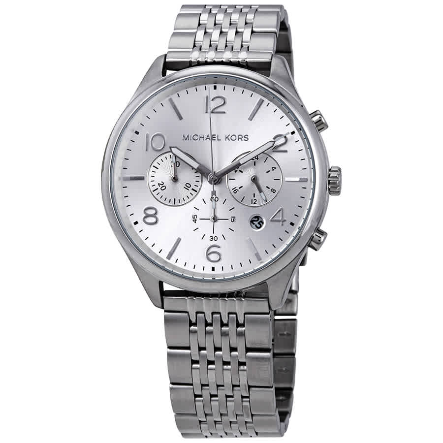 73ae13912adbc Michael Kors Merrick Chronograph Quartz Silver Dial Men s Watch MK8637