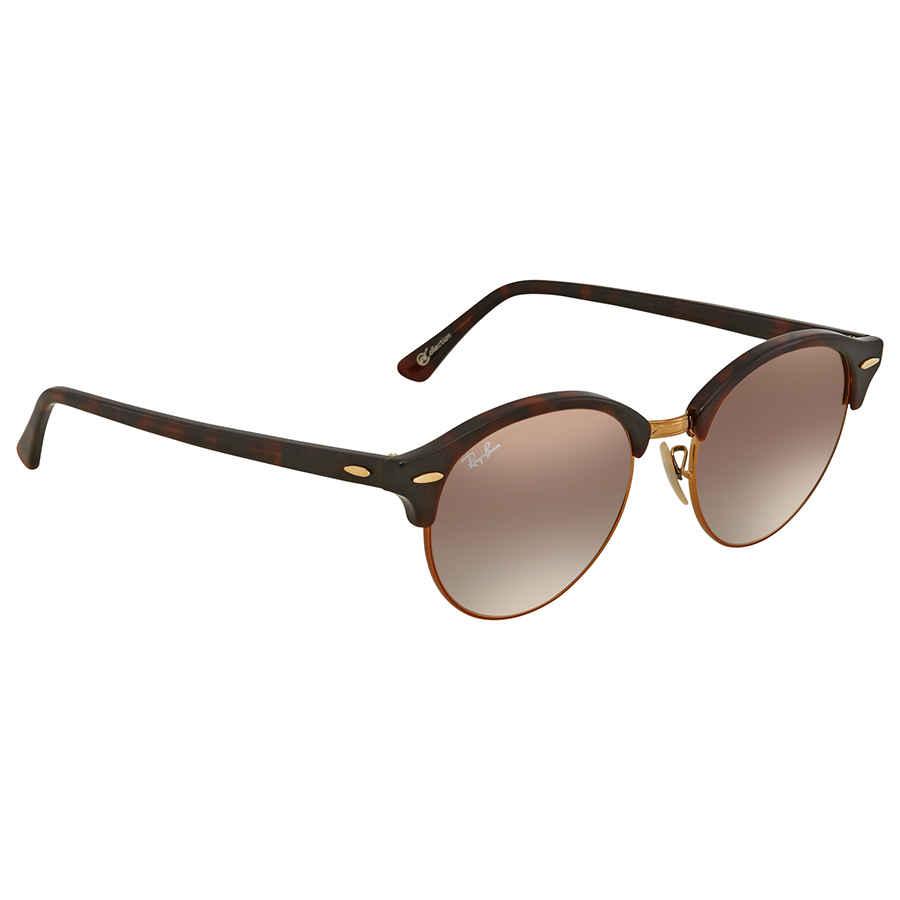 ed2c3fa2c4 Ray Ban Clubround Copper Gradient Flash Round Sunglasses RB4246 990 7Y 51