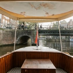 Meeting on a boat in amsterdam