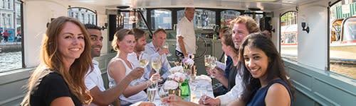 Culinary boat trip amsterdam