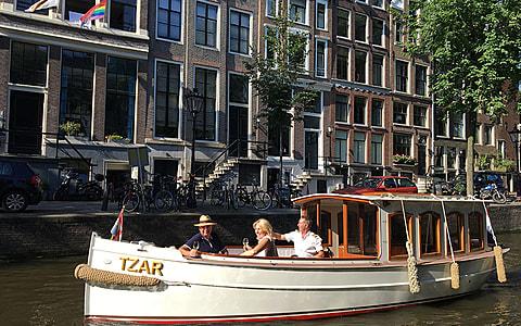 Canal boat Tzar Amsterdam