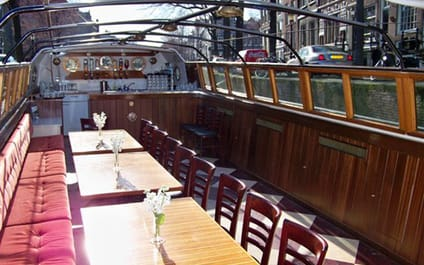Canal barge Wilhelmus Amsterdam