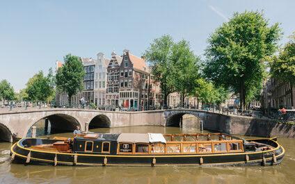 Canal barge Bota Fogo Amsterdam